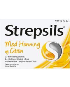 Strepcil Honning & Citron 24 stk