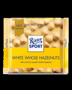 Ritter Sport - Hvid med nød