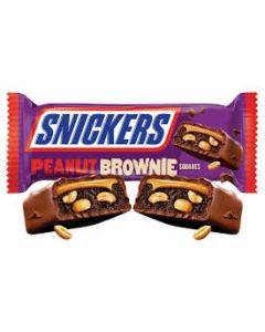 Snickers - Peanut Brownie Squares